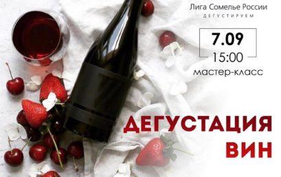 Мастер-класс «Дегустация вин»